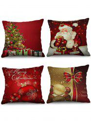 Christmas Decorations Printed Throw Pillow Cases -