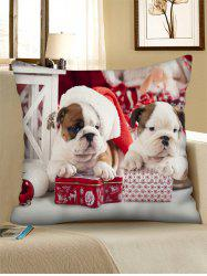 Christmas Dogs Gift Printed Throw Pillow Case -