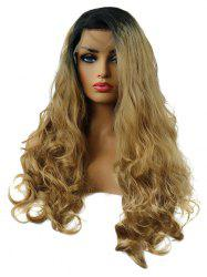 Long Side Bang Colormix Wavy Synthetic Lace Front Wig -