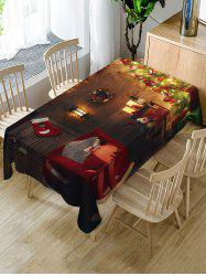 Christmas Tree Fabric Waterproof Table Cloth -