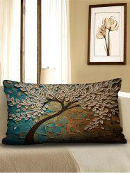 Tree Print Decorative Linen Waist Pillowcase -