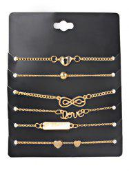 Vintage Heart LOVE Alloy Ankle Bracelet -