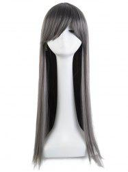 Long Side Bang Straight Cosplay Party Synthetic Wig -