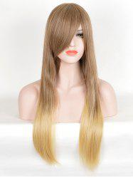 Long Side Bang Two Tone Straight Synthetic Wig -