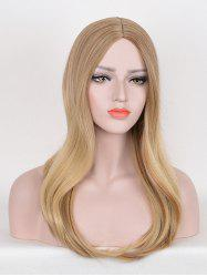 Long Middle Part Straight Colormix Party Synthetic Wig -