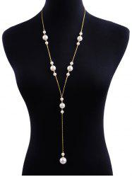 Vintage Pendant Faux Pearl Alloy Necklace -