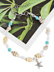 Bohemian Star and Sea Snail Pendant Anklet Chain -