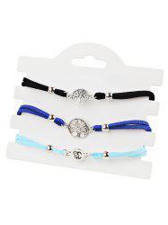 Tree of Life Pendant Beaded Anklet Chain Set -