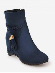 Plus Size Tassels Increased Internal Ankle Boots -