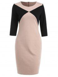 Two Tone Sheath Dress -