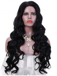 Synthetic Long Middle Part Loose Wave Party Wig -