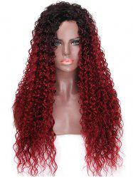 Long Colormix Kinky Curly Party Synthetic Wig -