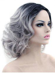 Medium Side Parting Colormix Big Curly Party Synthetic Wig -