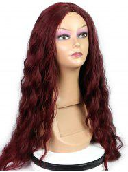 Long Center Parting Natural Wavy Party Capless Synthetic Wig -