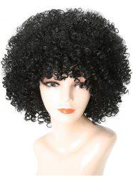 Short Full Bang Shaggy Afro Kinky Curly Synthetic Wig -