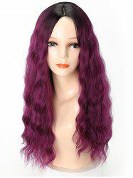 Long Middle Part Ombre Natural Wavy Party Synthetic Wig -
