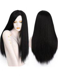 Long Side Parting Straight Party Capless Synthetic Wig -