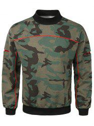Sweat-shirt Camouflage à Manches Ouvertes - Vert Camouflage M