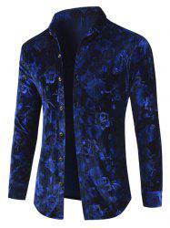 Velveteen Floral Button Up Shirt -