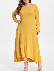 Front Pockets Plus Size High Low Dress -