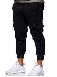 Multi Pocket Design Drawstring Jogger Pants -