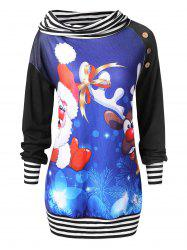 Plus Size Christmas Print Sweatshirt -