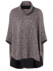 High Low Batwing Sleeve Cape Sweater -