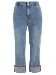 Jeans flanging à jambes larges -