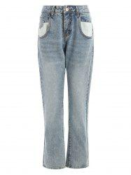 Mid Waisted Jeans with Pockets -