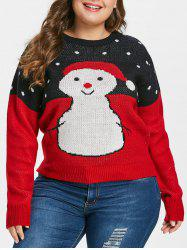 Plus Size Christmas Snowman Sweater -