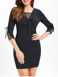 Criss Cross Slim Fit Dress -