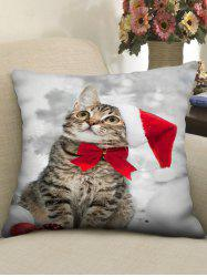 Christmas Cat Printed Pillowcase -