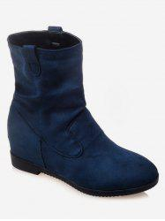 Plus Size Increased Internal Suede Mid Calf Boots -