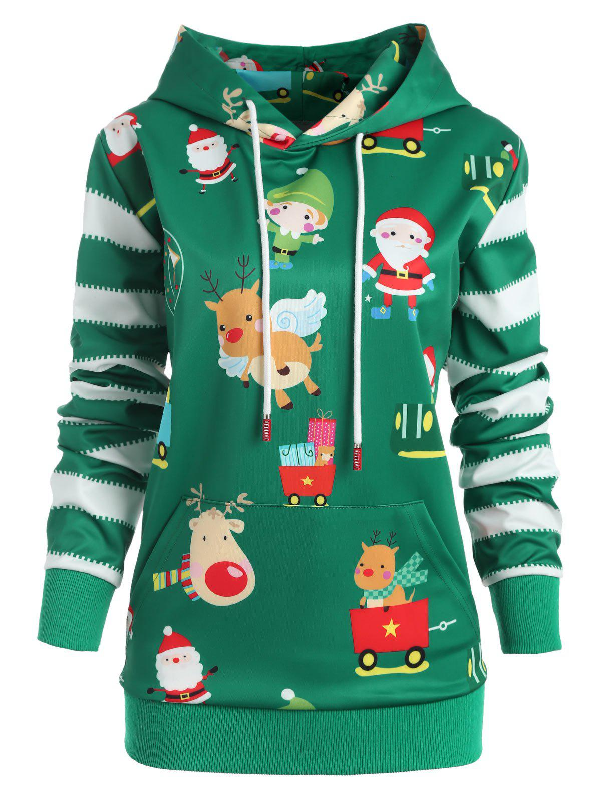 Trendy Plus Size Santa Claus Christmas Hoodie