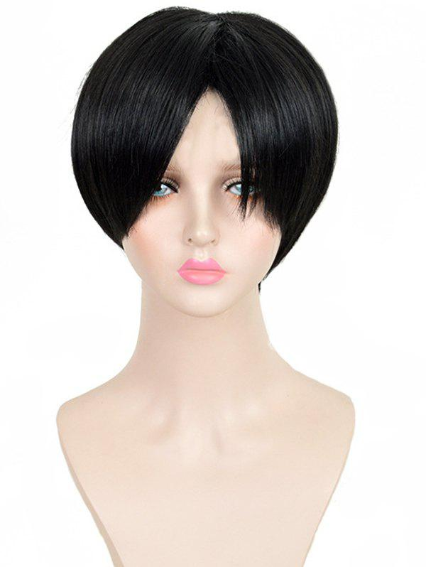Store Short Middle Part Bangs Straight Wig for Men