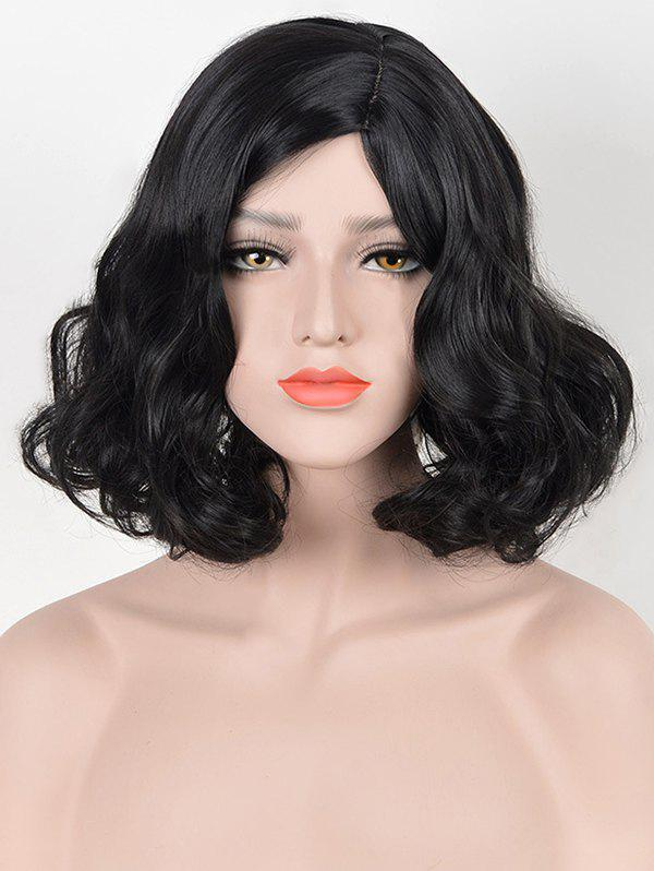 Affordable Short Side Parting Pear Hot Wavy Synthetic Wig