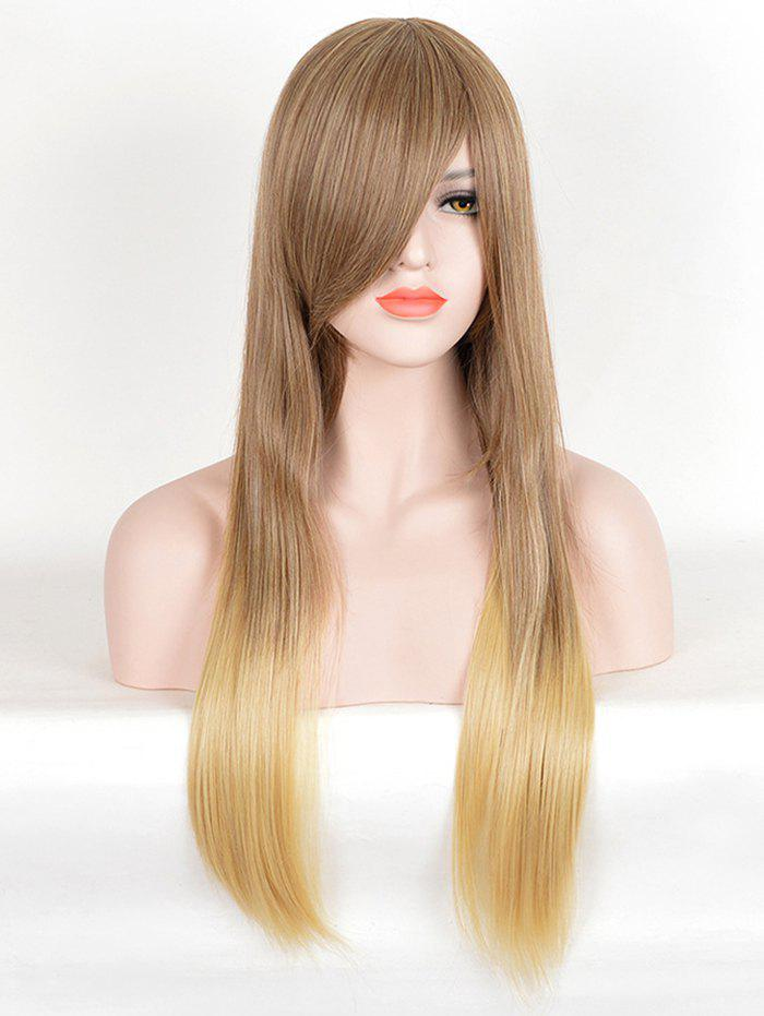 Shops Long Side Bang Two Tone Straight Synthetic Wig
