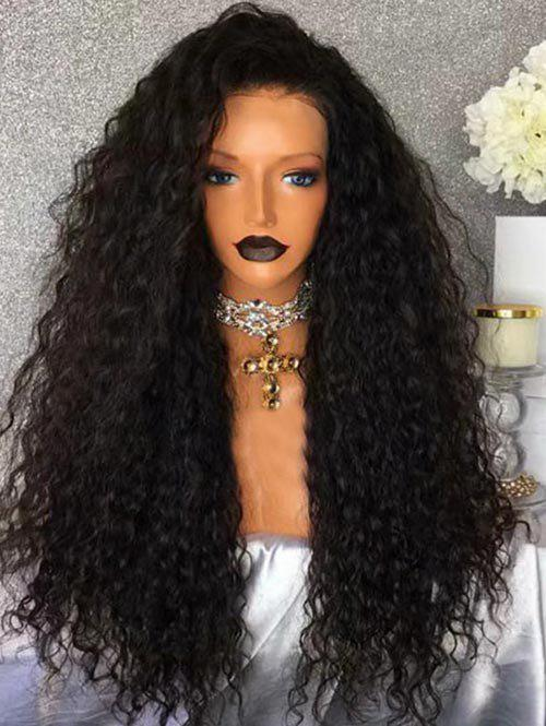 Fashion Free Part Long Water Wave Party Synthetic Lace Front Wig