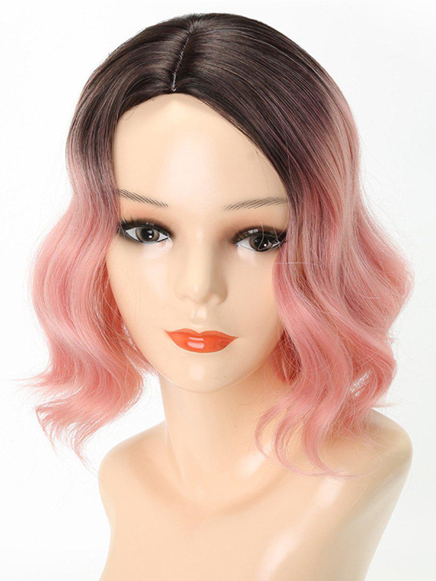 New Short Ombre Side Parting Wavy Party Lolita Synthetic Wig