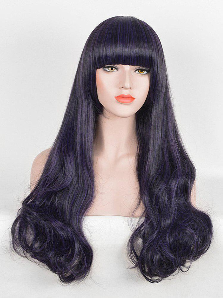 Chic Full Bang Long Wavy Party Synthetic Wig