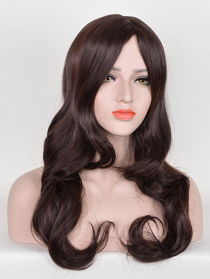 Trendy Long Middle Part Bang Wavy Party Synthetic Wig