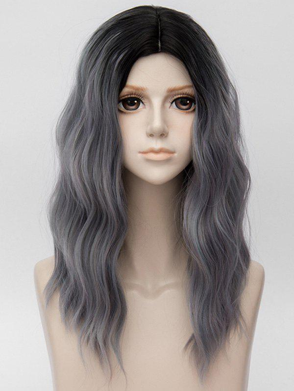Fancy Long Center Parting Ombre Natural Wavy Party Synthetic Wig