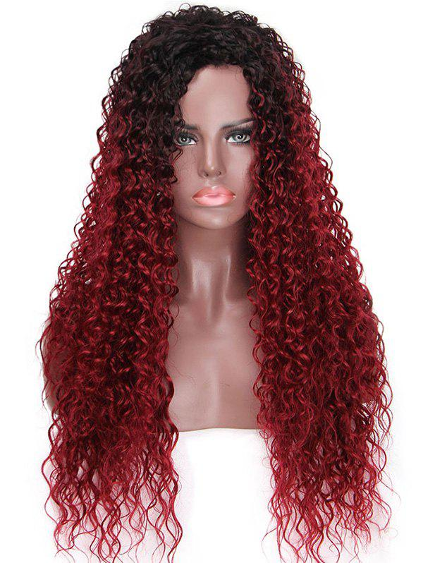 New Long Colormix Kinky Curly Party Synthetic Wig