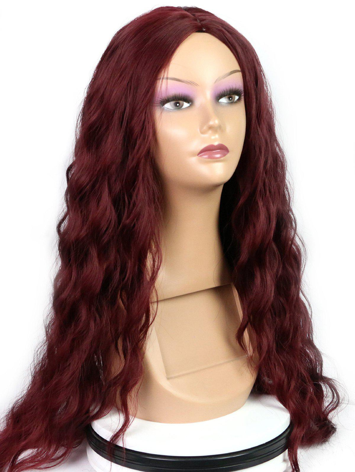 Outfits Long Center Parting Natural Wavy Party Capless Synthetic Wig