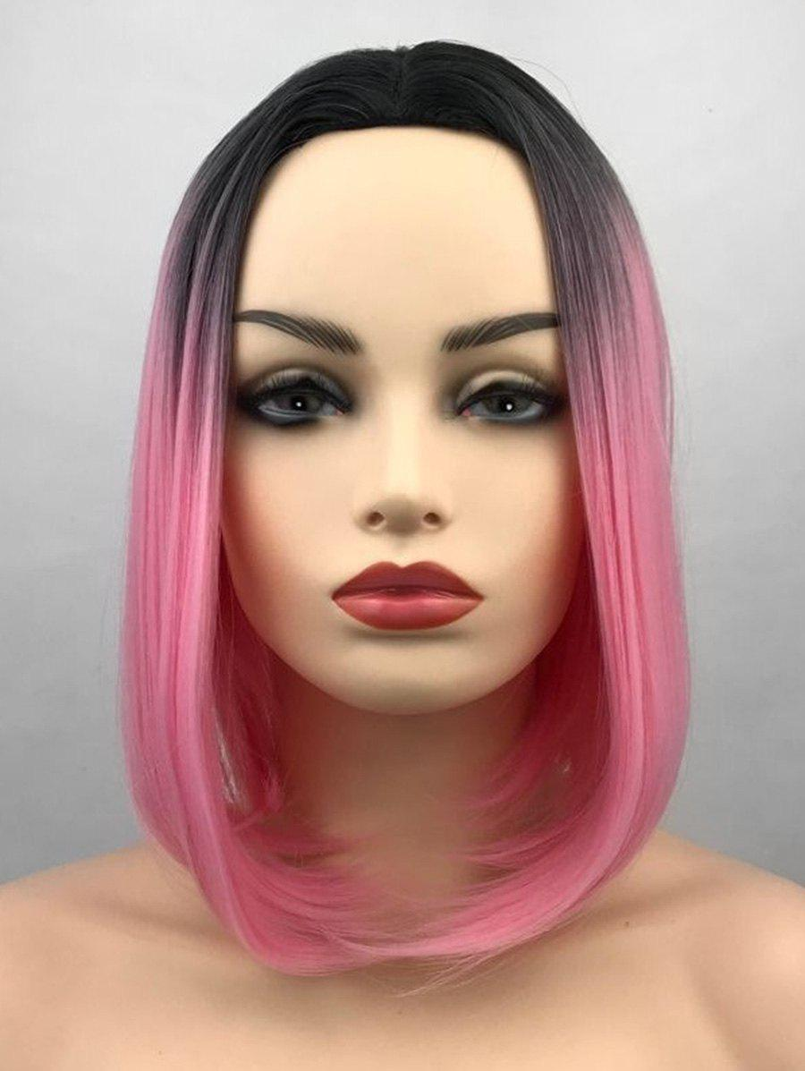Shops Middle Part Ombre Short Straight Bob Synthetic Wig