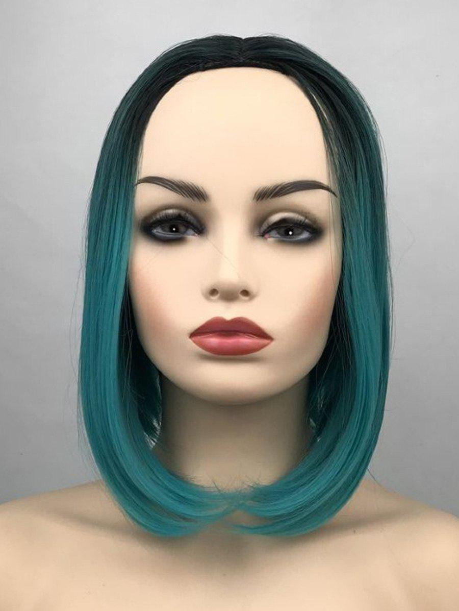 Outfits Middle Part Ombre Short Straight Bob Synthetic Wig