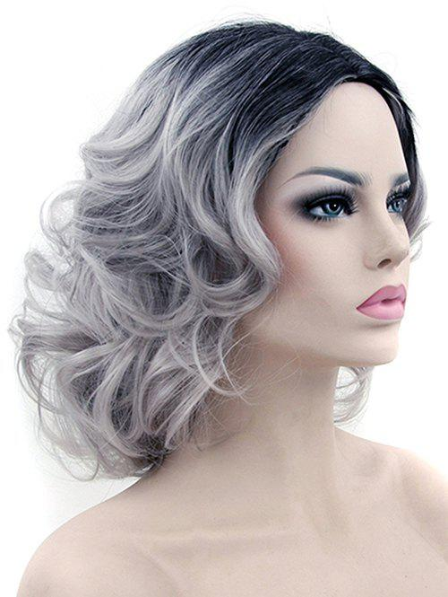 Fashion Medium Side Parting Colormix Big Curly Party Synthetic Wig