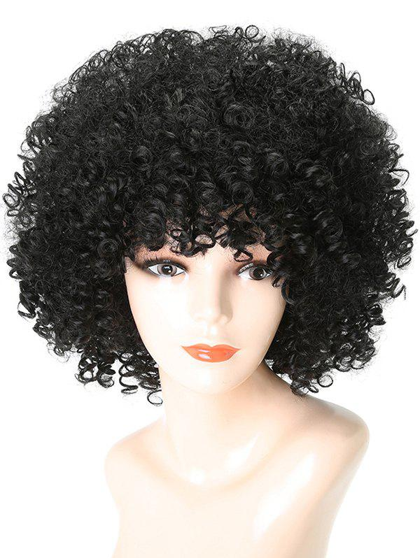 Unique Short Full Bang Shaggy Afro Kinky Curly Synthetic Wig