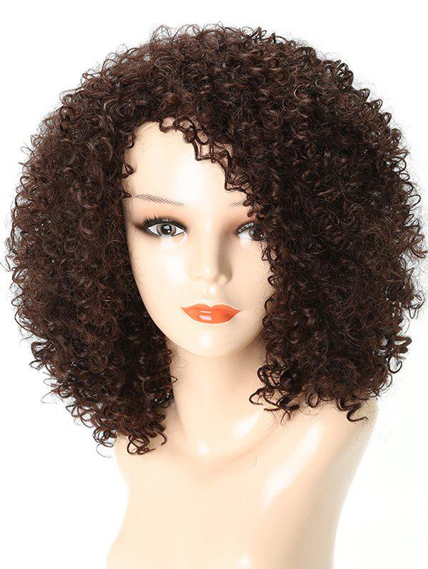 Cheap Medium Side Bang Kinky Curly Party Synthetic Wig