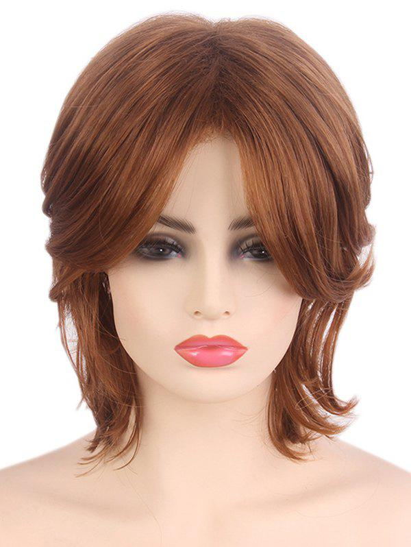 Discount Short Side Fringe Straight Capless Synthetic Wig